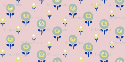 petite flower 2 green yellow