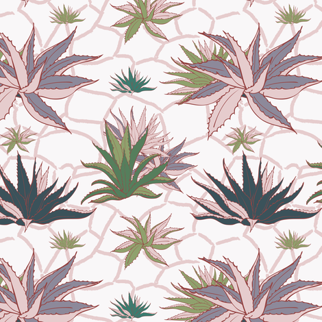 Agave Soft Pattern fabric by lady_bruniere on Spoonflower - custom fabric