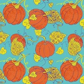 Cute Halloween Pumpkin Light Background