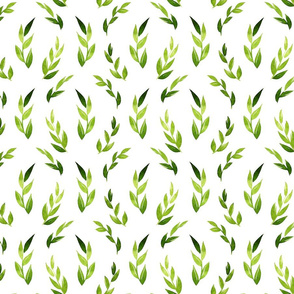 greeny leaves pattern_0_5x