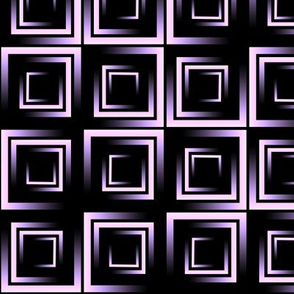 purple lilac ombre squares on black