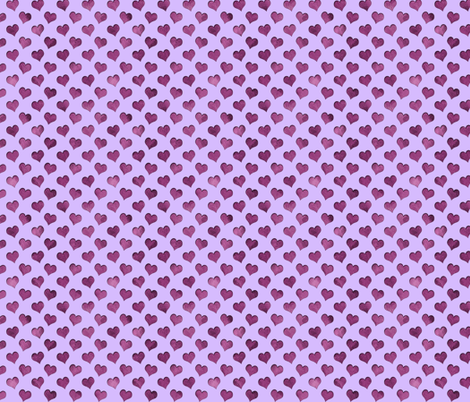 tiny cutout hearts pattern purple lilac fabric by katz_d_zynes on Spoonflower - custom fabric