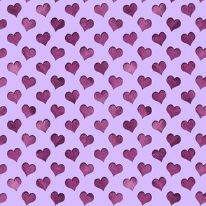 tiny cutout hearts pattern purple lilac