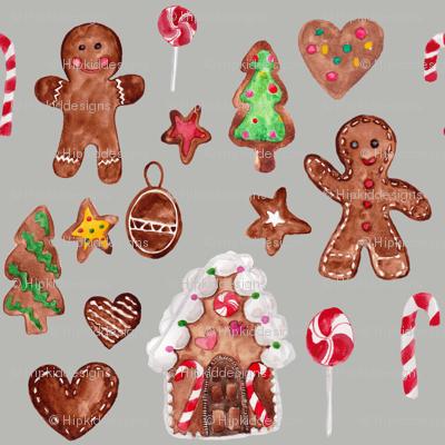 "8"" Gingerbread Christmas // Gray Nickel"