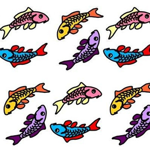 Abstract Colorful Carp