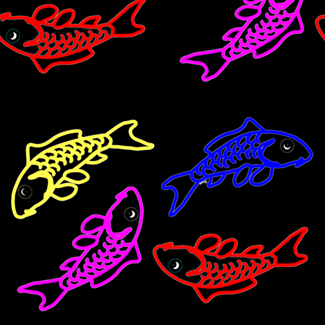 Abstract Neon Carp fabric by combatfish on Spoonflower - custom fabric