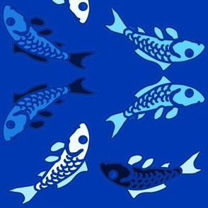Abstract Carp in Blue Impress
