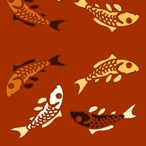 Abstract Carp red imprint