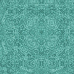 monochromatic teal kaleidoscope