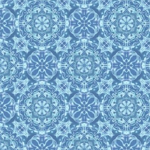 blue aqua kaleidoscope