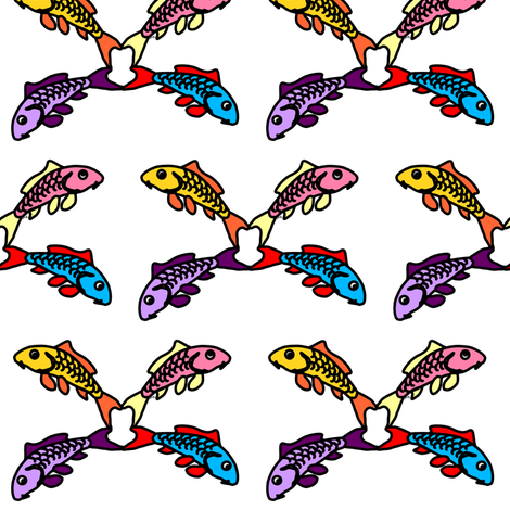 Abstract Carp 4 flower fabric by combatfish on Spoonflower - custom fabric