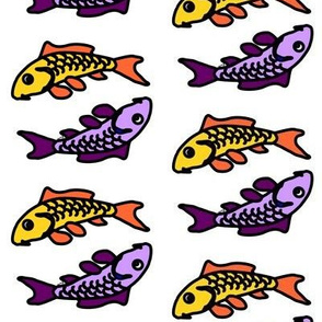 Dual Abstract Colorful Carp