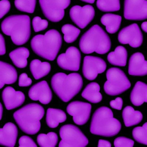 pebble hearts purple