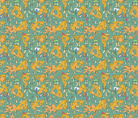 Macaroni and cheese (go on vacation) fabric by new_branch_studio on Spoonflower - custom fabric