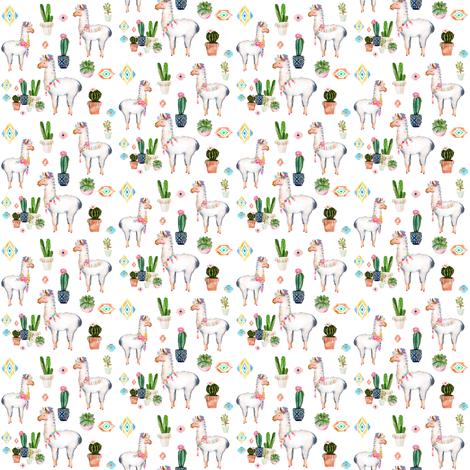 "2"" 2018 Aztec Llama fabric by shopcabin on Spoonflower - custom fabric"