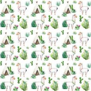 """2"""" 2018 Floral Aztec Llama"""