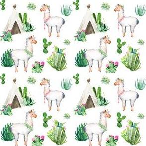 """3"""" 2018 Floral Aztec Llama"""