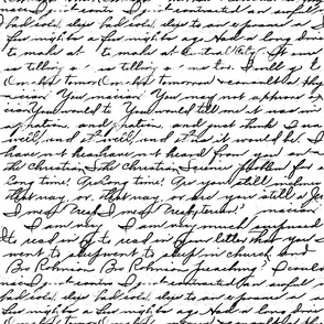Black and white old handwriting
