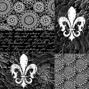 Black and white vintage romance