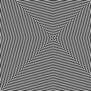 Black and White Op-Art Pattern