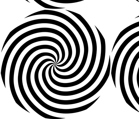 Black and white spiral pattern  fabric by andrea_haase_design on Spoonflower - custom fabric