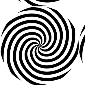 Black and white spiral pattern