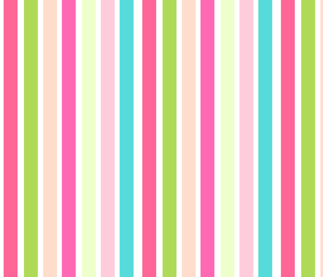 spring stripes VERTICAL 15 - pinks fabric by drapestudio on Spoonflower - custom fabric