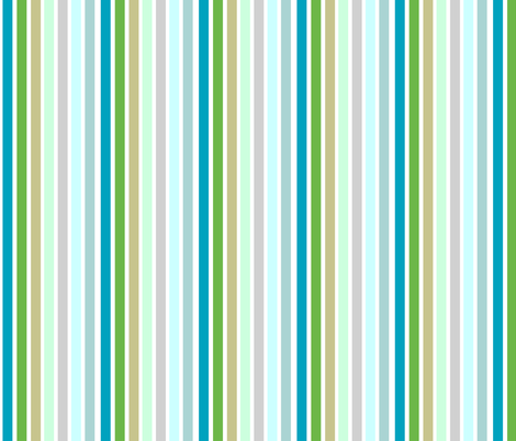 spring stripes VERTICAL 686 - blues fabric by drapestudio on Spoonflower - custom fabric