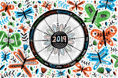 2019 Tea Towel Calendar