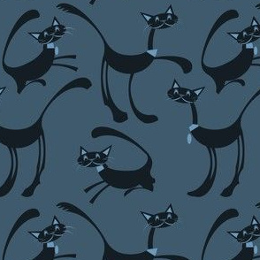 cats--denim blue