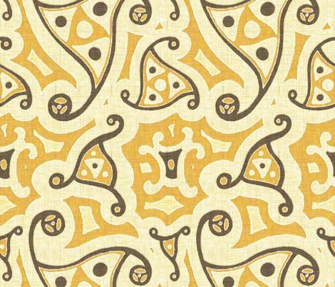 Caravan - saffron fabric by ormolu on Spoonflower - custom fabric