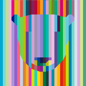 Candy stipe Polar bear