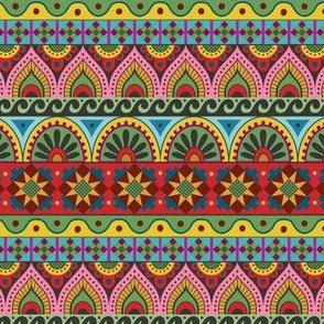 Ukrainian Folk Stripe in black