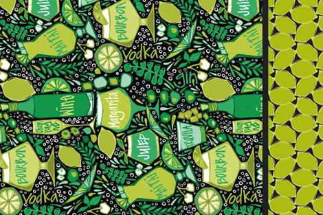 LISBONS COCKTAIL HOUR - AMYREBER fabric by amy_reber on Spoonflower - custom fabric