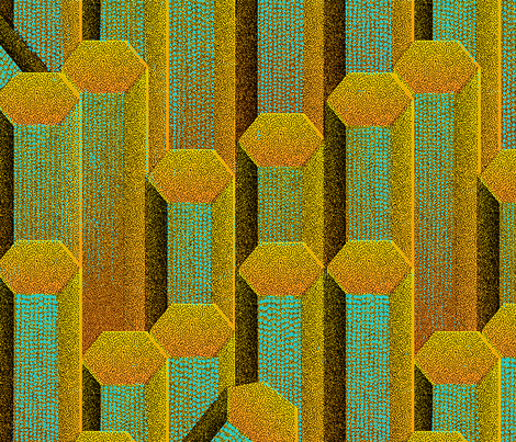 Colonnes Basaltiques 1a Huge fabric by muhlenkott on Spoonflower - custom fabric