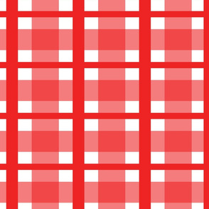 Bright Red Plaid
