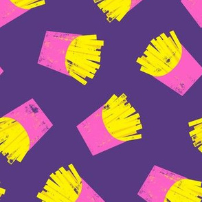 fries (pink on purple) - French fries
