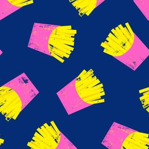 fries (pink on blue) - French fries