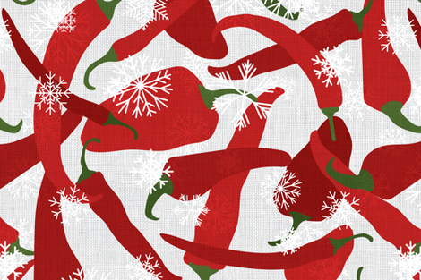 Chilly Chilies Tea Towel fabric by swrl on Spoonflower - custom fabric
