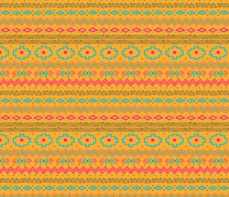 Southwest Stripe (orange) fabric by robyriker on Spoonflower - custom fabric