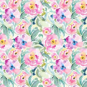 Watercolour Rose Garden