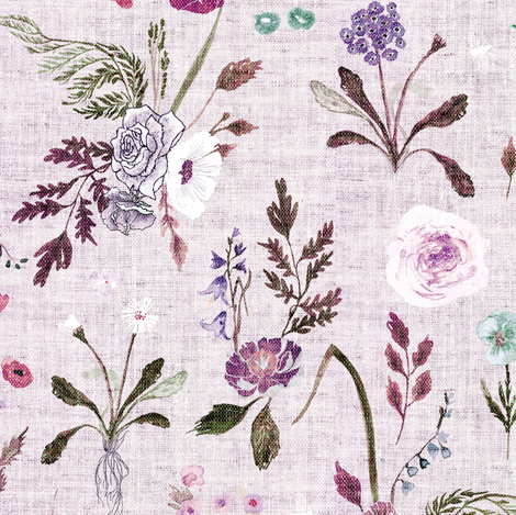 Jane (violet) MED fabric by nouveau_bohemian on Spoonflower - custom fabric