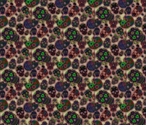 Honey Skull fabric by zmarksthespot on Spoonflower - custom fabric