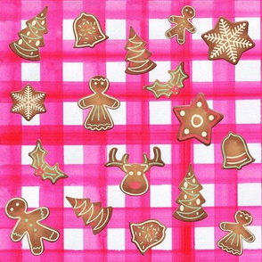 Christmas Gingham Cookie Platter