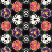 Skulls in the Flowers
