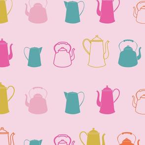 Pink Garden Tea Party Pattern