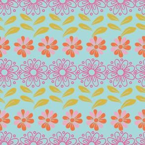 Floral Garden Tea Party Pattern