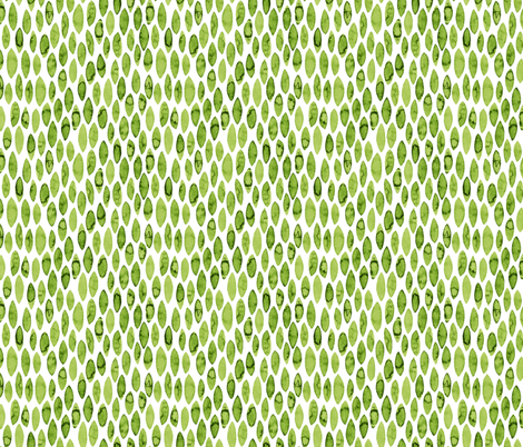 Green watercolor leaves  fabric by simut on Spoonflower - custom fabric