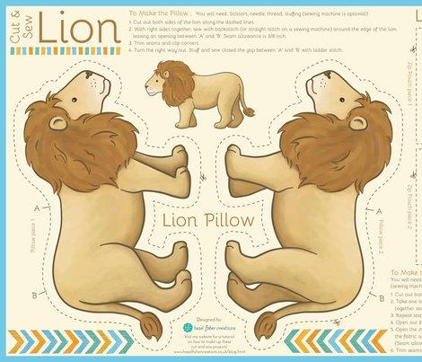 Cutandsew_lion_hazelfishercreations_shop_preview