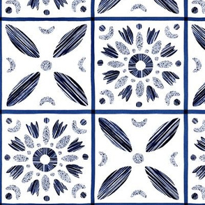 Modern textured ornamental squares